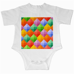 Background Colorful Geometric Triangle Rainbow Infant Creepers by HermanTelo