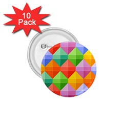 Background Colorful Geometric Triangle Rainbow 1 75  Buttons (10 Pack)