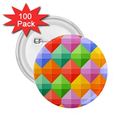 Background Colorful Geometric Triangle Rainbow 2 25  Buttons (100 Pack)  by HermanTelo