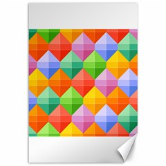 Background Colorful Geometric Triangle Rainbow Canvas 12  X 18  by HermanTelo