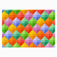Background Colorful Geometric Triangle Rainbow Large Glasses Cloth (2-side) by HermanTelo