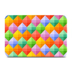 Background Colorful Geometric Triangle Rainbow Plate Mats by HermanTelo