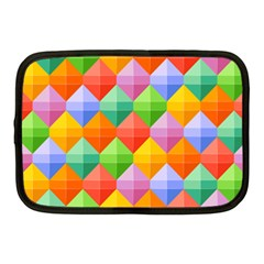 Background Colorful Geometric Triangle Rainbow Netbook Case (medium) by HermanTelo