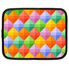 Background Colorful Geometric Triangle Rainbow Netbook Case (xl) by HermanTelo