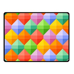 Background Colorful Geometric Triangle Rainbow Fleece Blanket (small) by HermanTelo