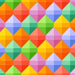 Background Colorful Geometric Triangle Rainbow Magic Photo Cube by HermanTelo