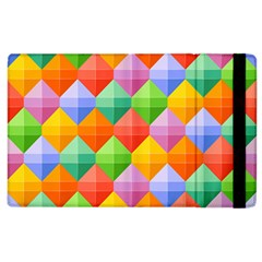 Background Colorful Geometric Triangle Rainbow Apple Ipad 3/4 Flip Case by HermanTelo