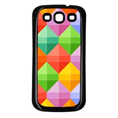 Background Colorful Geometric Triangle Rainbow Samsung Galaxy S3 Back Case (black)