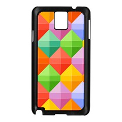 Background Colorful Geometric Triangle Rainbow Samsung Galaxy Note 3 N9005 Case (black) by HermanTelo