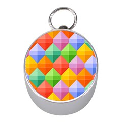 Background Colorful Geometric Triangle Rainbow Mini Silver Compasses by HermanTelo