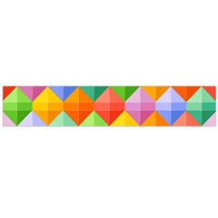 Background Colorful Geometric Triangle Rainbow Large Flano Scarf  by HermanTelo