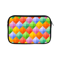 Background Colorful Geometric Triangle Rainbow Apple Macbook Pro 13  Zipper Case by HermanTelo