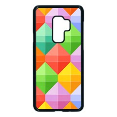 Background Colorful Geometric Triangle Rainbow Samsung Galaxy S9 Plus Seamless Case(black) by HermanTelo