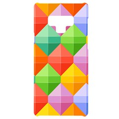 Background Colorful Geometric Triangle Rainbow Samsung Note 9 Black Uv Print Case  by HermanTelo