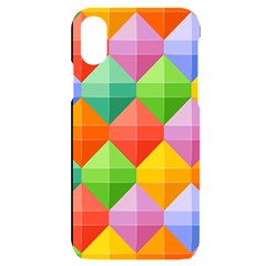 Background Colorful Geometric Triangle Rainbow Iphone X/xs Black Uv Print Case