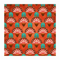 Background Floral Pattern Red Medium Glasses Cloth (2 Side) by HermanTelo