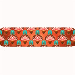 Background Floral Pattern Red Large Bar Mats by HermanTelo