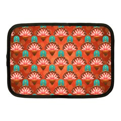 Background Floral Pattern Red Netbook Case (medium) by HermanTelo