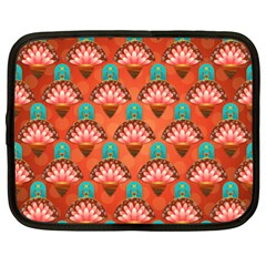 Background Floral Pattern Red Netbook Case (xxl) by HermanTelo