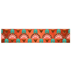 Background Floral Pattern Red Small Flano Scarf