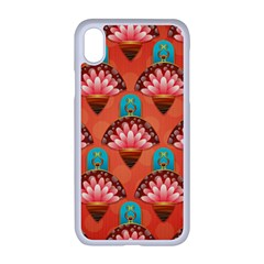 Background Floral Pattern Red Iphone Xr Seamless Case (white)