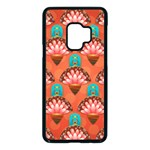 Background Floral Pattern Red Samsung Galaxy S9 Seamless Case(Black) Front