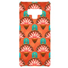 Background Floral Pattern Red Samsung Note 9 Black Uv Print Case  by HermanTelo