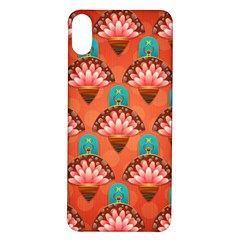 Background Floral Pattern Red Iphone X/xs Soft Bumper Uv Case by HermanTelo