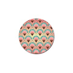 Background Floral Pattern Pink Golf Ball Marker (4 Pack) by HermanTelo