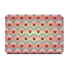 Background Floral Pattern Pink Small Doormat  by HermanTelo