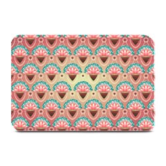 Background Floral Pattern Pink Plate Mats