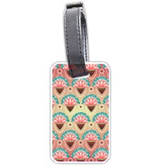 Background Floral Pattern Pink Luggage Tags (two Sides) by HermanTelo