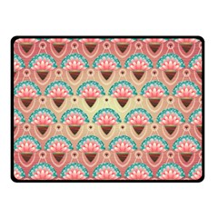 Background Floral Pattern Pink Double Sided Fleece Blanket (small)  by HermanTelo