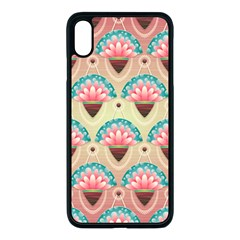 Background Floral Pattern Pink Iphone Xs Max Seamless Case (black)
