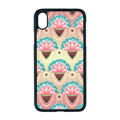 Background Floral Pattern Pink Iphone Xr Seamless Case (black)