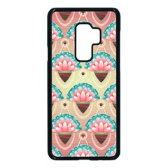 Background Floral Pattern Pink Samsung Galaxy S9 Plus Seamless Case(black) by HermanTelo