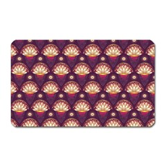 Background Floral Pattern Purple Magnet (rectangular) by HermanTelo