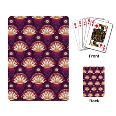 Background Floral Pattern Purple Playing Cards Single Design