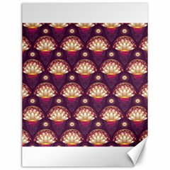Background Floral Pattern Purple Canvas 12  X 16  by HermanTelo