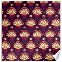 Background Floral Pattern Purple Canvas 16  X 16
