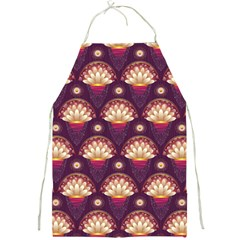 Background Floral Pattern Purple Full Print Aprons by HermanTelo