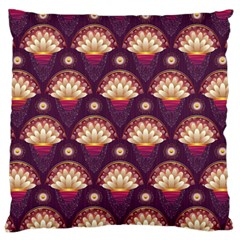 Background Floral Pattern Purple Large Cushion Case (two Sides) by HermanTelo