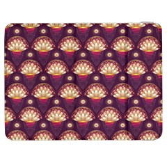 Background Floral Pattern Purple Samsung Galaxy Tab 7  P1000 Flip Case by HermanTelo