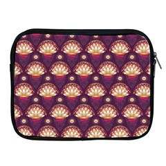 Background Floral Pattern Purple Apple Ipad 2/3/4 Zipper Cases by HermanTelo