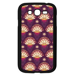 Background Floral Pattern Purple Samsung Galaxy Grand Duos I9082 Case (black) by HermanTelo
