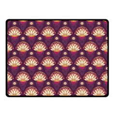 Background Floral Pattern Purple Double Sided Fleece Blanket (small)  by HermanTelo