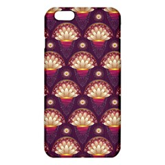 Background Floral Pattern Purple Iphone 6 Plus/6s Plus Tpu Case