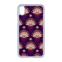 Background Floral Pattern Purple Iphone Xr Seamless Case (white)
