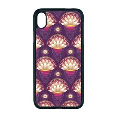Background Floral Pattern Purple Iphone Xr Seamless Case (black)