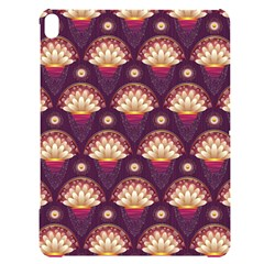 Background Floral Pattern Purple Apple Ipad Pro 12 9   Black Uv Print Case